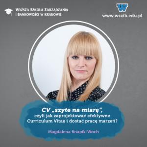 """CV """"szyte na miarę"""", czyli jak zaprojektować efektywne Curriculum Vitae i dostać pracę marzeń?"""