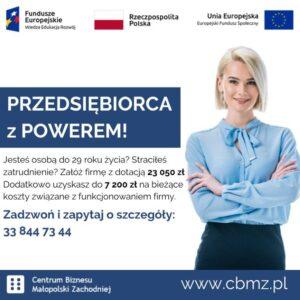 Przedsiębiorca z POWEREM – projekt współfinansowany z UE.